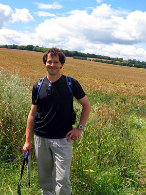 David Wenk in wheat field near Poplar Farm outside Harrietsham