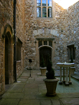 Fountain Court, interior courtyard at Leeds Castle