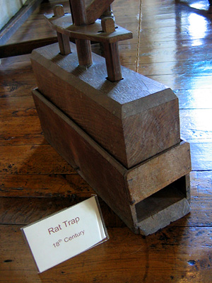 Rat trap, Leeds Castle
