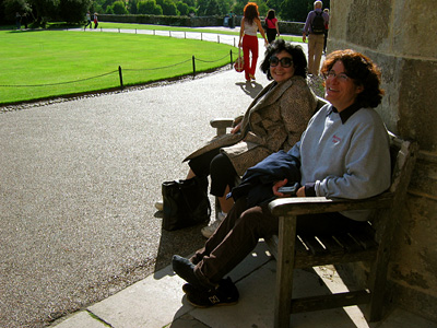 Bench outside Leeds Castle