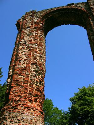 Arch at St Botolph's Priory in Colchester