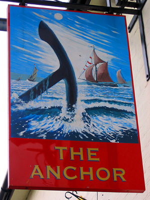 Sign for the Anchor pub in Rowhedge