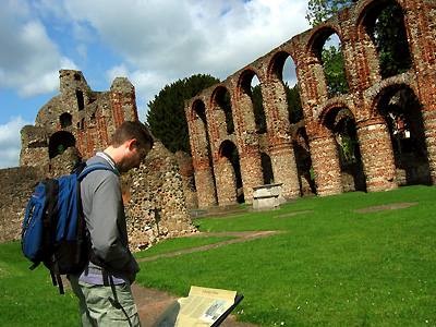 Ruins of St Botolph's Augustinian priory, Colchester, Essex, East Anglia, England, Britain, UK
