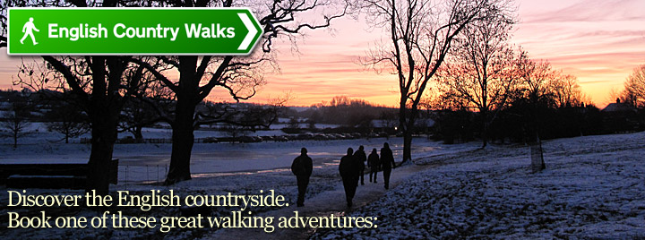 Discover the English countryside. Book one of these great walking adventures.